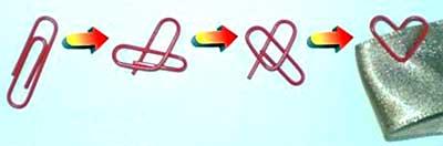 Как сделать из обычной скрепки сердечко